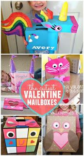 Are you looking for something different for Valentine boxes? And yes, I think they really ARE the cutest Valentine boxes! 24 ideas, plus a link to 20 more boxes especially for boys. A wealth of ideas here. Kinder Valentines, Valentine Day Boxes, Valentines Day Food, Valentines Day Activities, Valentine Day Crafts, Valentine Ideas, Valentine Party, Walmart Valentines, Valentine Gifts For Kids