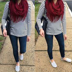 Stripes & Fringe - full outfit details on www.whatjesswore.com