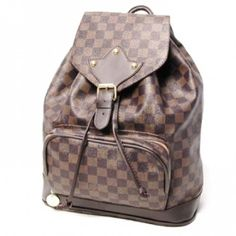 "Louis Vuitton Damier Ebene Canvas Trevi Damer Ebony N51139 Montsouris Park in Paris served as Louis Vuitton's inspiration for this spacious and practical backpack. It features two pockets; Including an exterior zip pocket; And adjustable straps. 12.2"" x 15.3"" x 5.1"""