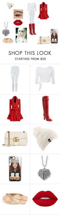 """""""winter world"""" by gemma-todd-1 on Polyvore featuring Topshop, WithChic, Valentino, Gucci, The North Face, Casetify, StyleRocks and Lime Crime"""