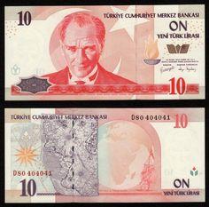 Turkey 10 New Lira 2005, D80, P218 / B296b UNC | eBay