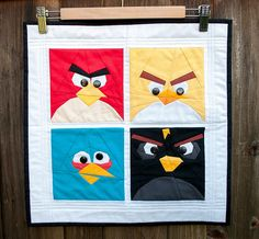 angry birds mini-quilt by anne @ play-crafts {asdesigned}, via Flickr