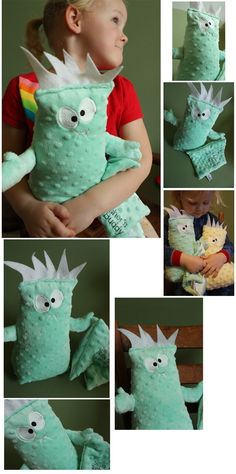 Monster Buddy Baby Toy Plush monster Stuffed by BBsForBabies, $30.00