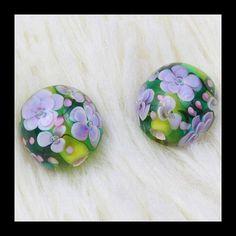 Free Shipping 10 PCS Handmade Lampwork Beads 3D by Girljewelrybox