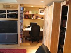 Hidden Office / Moving Bookcase