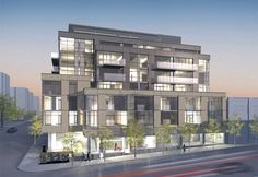 Q Loft is a midrise boutique condo, 8 storeys in height and comprised of just 70 loft and condo suites. Some offer dramatic 2-level designs. Many offer spacious balconies and terraces. And all will enjoy the convenience of having a selection of retail shops and services on the ground floor of the building, with canopied and tree-lined walkways along both Queen and Dufferin.