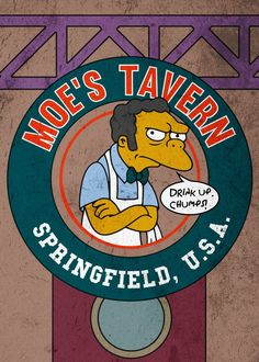 Moe's Tavern, The Simpsons Tgif Funny, Funny Puns, Funny Weekend, Weekend Quotes, Funny Friday, Funny Humor, Morning Quotes, Funny Quotes, Best 90s Cartoons