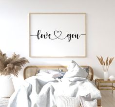Bedroom Prints, Bedroom Wall, Bedroom Decor, Nursery Decor, Bed Wall, Master Bedroom, Art Above Bed, Above Bed Decor, Be Our Guest Sign