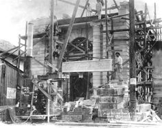 Construction of the First National Bank - Fort Myers Florida 1914