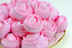 Pink Meringue Roses. Beautiful!