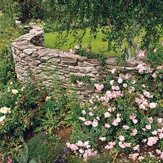 Undulating Fieldstone Wall