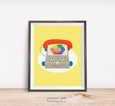 """Fisher Price toy phone printable wall art 8 x 10"""" instant download"""