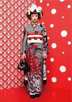 Kimono Nagoya Source by Minzfraeulein giapponesi Kimono Yukata, Moda Kimono, Kimono Dress, Kimono Style, Traditional Kimono, Traditional Dresses, Kimono Tradicional, Cute Kimonos, Kimono Design