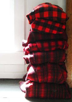 stacked buffalo plaid