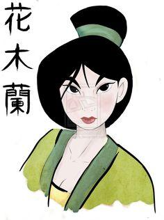 Hua Mulan by IDCabrera.deviantart.com on @deviantART - If you ever wondered how to write Mulan's full name (Hua Mulan) in Chinese...here you go!