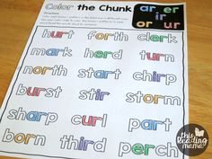 Color the Chunk - Bossy R Phonics Pages - This Reading Mama Kindness Activities, Spelling Activities, Preschool Learning Activities, Phonics Reading, Teaching Phonics, Teaching Reading, First Grade Phonics, First Grade Reading, 2nd Grade Worksheets