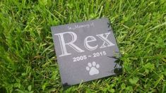 6 x 6 Black Granite Pet Human Memorial Stone by PetStonesUSA