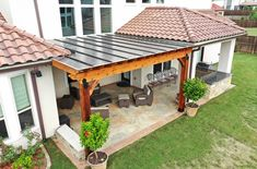 Pergola Attached To House, Pergola With Roof, Outdoor Pergola, Backyard Pergola, Pergola Plans, Covered Pergola Patio, Outdoor Rooms, Outdoor Living, Carport Patio