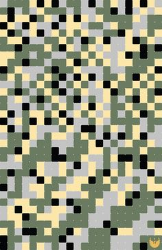 Pixelated Camo Pattern  by Jon Hernandez