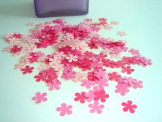 A personal favorite from my Etsy shop https://www.etsy.com/ca/listing/48352753/100-pieces-pretty-petals-hand-punched