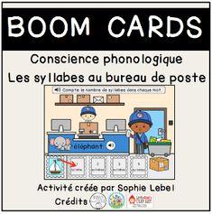 Boom Cards - Les syllabes au bureau de poste Deck, Family Guy, Fictional Characters, Learn To Count, Post Office, Front Porches, Fantasy Characters, Decks, Decoration