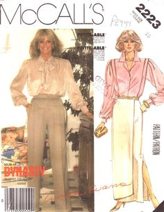 McCalls Pattern 2223 - Dynasty TV Series Collection #1980s #fashion