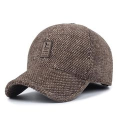 7650fcedcc06e Men s Knitted Winter Baseball Cap With Earflaps - Black