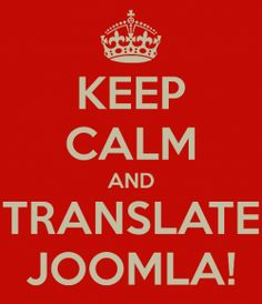 Keep Calm and translate Joomla! - Infos and tips for translators.  This is a place where I save and share some of my link collections and tips...