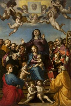 Madonna and Child with Saint Anne and the patron saints of Florence by Fra Bartolomeo, ca. 1510 (PD-art/old), Muzeum Narodowe w Warszawie (MNW)