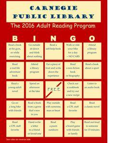 ideas about Reading Bingo on Pinterest Library