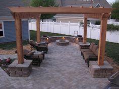 h&h hardscape & concrete - paver patio,firepit,arbor