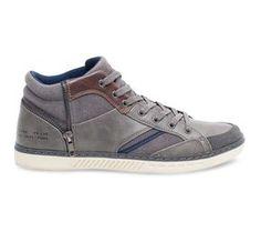 Basket montante fermeture déco grise - Baskets   Tennis - Chaussures homme 277493ea0e402
