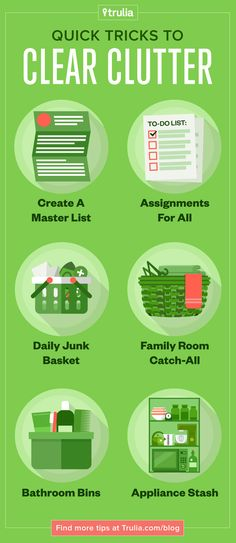 Great tips for clearing the clutter!