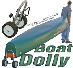 Haul your boat or canoe around the yard without a trailer with a boat dolly from Discount Ramps. Canoe Cart, Boat Trailer, Water Sports, Kayaking, Hunting, Outdoor, Google Search, Boats, Wooden Ship
