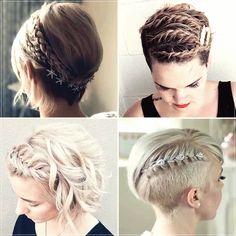 Short and medium hairstyles 2020: 150 beautiful ideas! Medium Short Hair, Very Short Hair, Short Straight Hair, Medium Hair Styles, Curly Hair Styles, Elegant Hairstyles, Braided Hairstyles, Cool Hairstyles, Beautiful Hairstyles