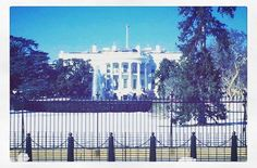 White House Washington DC. #whitehouse #washingtondc #obama #usa #etatsunis #sun #snow by marine_mrzk #WhiteHouse #USA