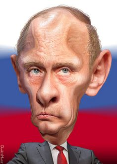 'Hey Now' Of The Day is Tetyana Shvachuk   Vladimir Putin – Caricature (Photo credit: DonkeyHotey)  I can't find a pic of her but man is she...