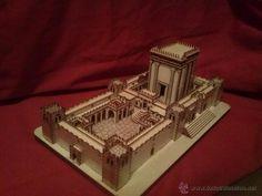 maqueta del templo Jerusalén en madera de olivo. - Foto 1