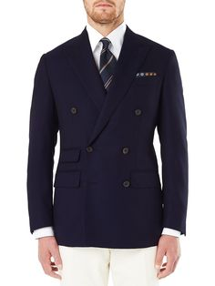 Curzon Double Breasted Blazer in Navy