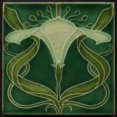 Mintons Art Nouveau Tile Arum Lily c.1902