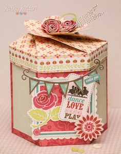 "Another really cool box from the new SVG Cuts kit. I love them all!!! Kathy's ""Piece""ful Place"