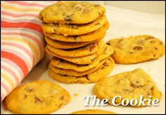 This recipe comes from AWW Cooking School Book (click here to BUY – it's awesome) and the twist is that you let the dough rest in the fridge for an hour before baking.    Never tried that technique before and it WORKS.    I made 80 cookies (because I'm a maniac) and NONE came back from school.    Says it all.