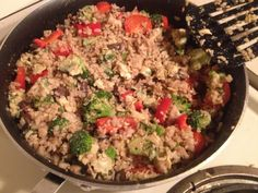 Clean eating: healthy fried rice. Loads of veggies. Very delicious, quick, and good for you!