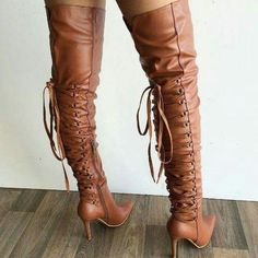 Brown Smooth Leather Boots