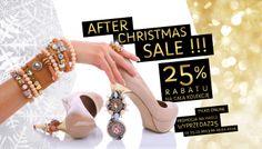 Uwaga! Zapraszamy na poświąteczne rabaty! Szczegóły na naszej stronie www.bydziubeka.pl #bydziubeka #jewelry #sale