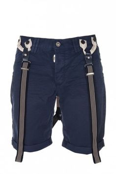 #Nautical: Navy shorts with braces at Intro