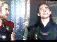 "I love Loki's face at the beginning. He just all like,""Look at my fabulousness!"" Then,""See Thor? This is why I have more fangirls"""