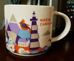 Starbucks North Carolina You are Here Collection Coffee Mug Cup 14oz 2014