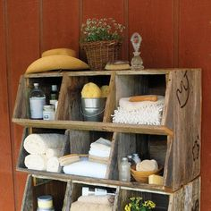 Wooden cubbies would be an excellent addition to a barn for storage, and I'm positive that they could be made for SO much cheaper than the advertised price.