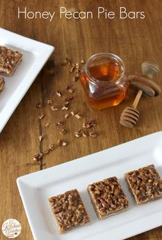 Honey Pecan Pie Bars – This recipe  is sure to be welcome this fall when it's time to bake some festive, nutty snacks.
